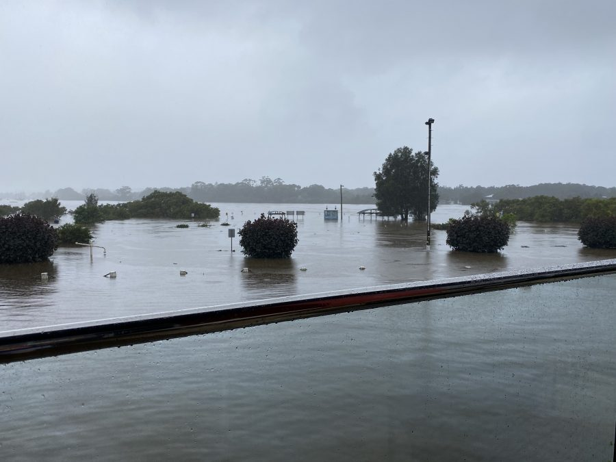 Flood water Laurieton